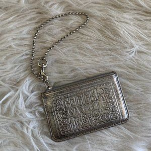 Authentic Coach Silver Poppy Small Wallet